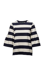 RTW PONTE-TOP - NAVY/WHITE