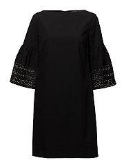 Poplin Shift Dress - POLO BLACK