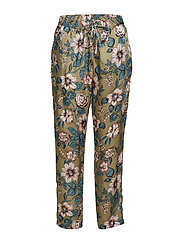 Floral-Print Twill Pant - OLIVE MULTI