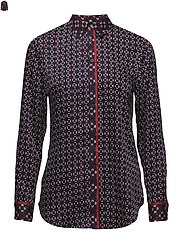 Print Twill Button-Down Shirt - MULTI