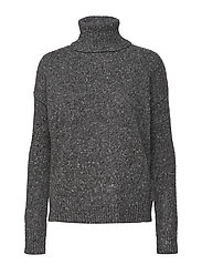 Wool-Blend Turtleneck Sweater - GREY MULTI