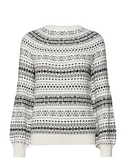 Fair Isle Cotton-Blend Sweater - MASCARPONE CREAM