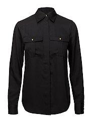 Twill Button-Down Shirt - POLO BLACK