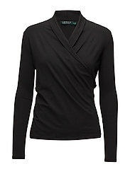 LUXE STRETCH JERSEY-TOP - POLO BLACK