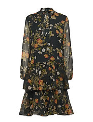 Floral Georgette Dress - GREEN MULTI
