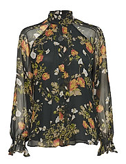 Floral Georgette Blouse - GREEN MULTI
