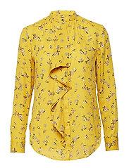 Floral Georgette Top - GOLD MULTI