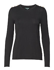 STR CHIC VIS JRSY-TOP - POLO BLACK