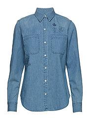Print Denim Button-Down - BOATHOUSE BLUE WA