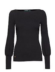 Puff-Sleeve Sweater - POLO BLACK