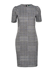 Glen Plaid Jacquard-Knit Dress - MULTI