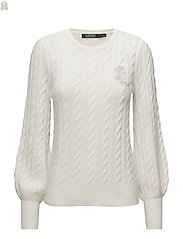 Crest Cable Puff-Sleeve Sweater - MASCARPONE CREAM