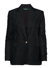 Linen-Blend Twill Blazer - POLO BLACK