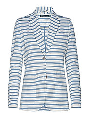 Striped Jersey Blazer - MASCARPONE CREAM/