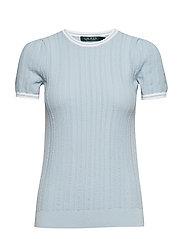 Cotton-Blend Sweater - ENGLISH BLUE/SILK
