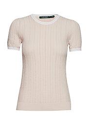 Cotton-Blend Sweater - WHITE ROSE/SILK W