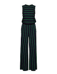 44841cc1f4f Striped Button-Trim Jumpsuit - LAUREN NAVY CAMBR. Lauren Ralph Lauren