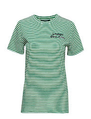 Logo Striped Cotton Tee