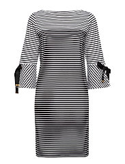 THARIANA-3/4 SLEEVE-CASUAL DRESS - POLO BLACK MULTI