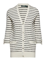 Striped Cotton-Blend Cardigan - MASCARPONE CREAM/