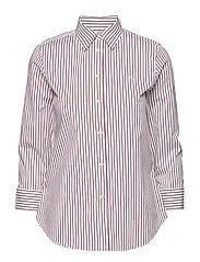 No-Iron Button-Down Shirt - WHITE/LIPSTICK RE