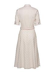Lauren Ralph Lauren - Striped Belted Shirtdress - paitamekot - dry berry multi - 1