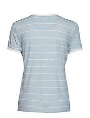Lauren Ralph Lauren - Striped Linen-Blend Tee - raidalliset t-paidat - english blue/masc - 1
