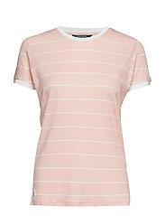 Striped Linen-Blend Tee - PRIMROSE/MASCARPO