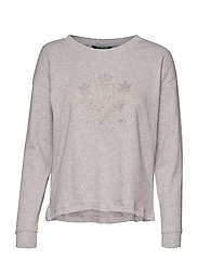 KIRSTIN-LONG SLEEVE-KNIT - PEARL GREY HEATHE