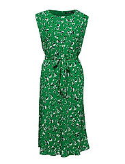 Floral Georgette Dress - CAMBRIDGE GREEN M