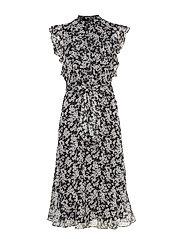 Floral Georgette Dress - POLO BLACK/SILK W