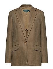 Herringbone Tweed Blazer - SAGE
