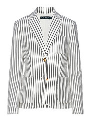 Striped Piqué Blazer - MASCARPONE CREAM/