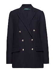 Cotton Piqué Blazer - LAUREN NAVY