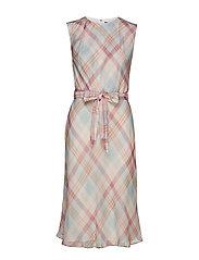 Belted Georgette Dress