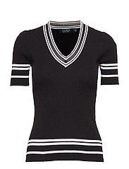 Cotton-Blend Sweater - POLO BLACK/WHITE