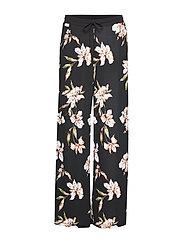 Floral-Print Wide-Leg Pant - BLACK MULTI