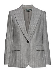 FLANNEL SUITING-JACKET - LIGHT GREY MULTI