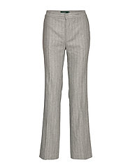 Lauren Ralph Lauren FLANNEL SUITING-PANT - LIGHT GREY MULTI