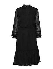 SWISS DOT-DRESS - POLO BLACK