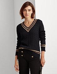 Lauren Ralph Lauren - Metallic Cricket Sweater - swetry - lauren navy/gold - 0