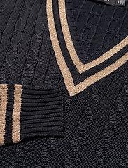 Lauren Ralph Lauren - Metallic Cricket Sweater - swetry - lauren navy/gold - 3