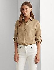 Lauren Ralph Lauren - Linen Shirt - langærmede skjorter - spring khaki - 0
