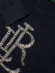 Lauren Ralph Lauren - Beaded-Logo Cotton Sweater - swetry - lauren navy - 2