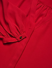 Lauren Ralph Lauren - Pleated Georgette Top - blouses à manches longues - lipstick red - 3