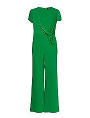 Crepe Wide-Leg Jumpsuit - HEDGE GREEN
