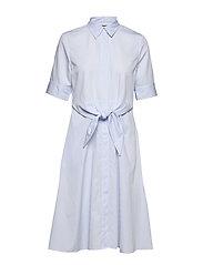 Striped Cotton Shirtdress - BLUE/WHITE