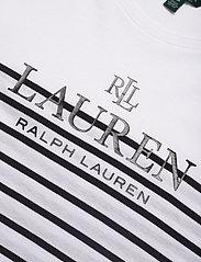 Lauren Ralph Lauren - Striped Logo Tee - t-shirts - white - 2