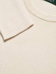 Lauren Ralph Lauren - Ribbed Cotton-Blend Sweater - gensere - mascarpone cream - 2