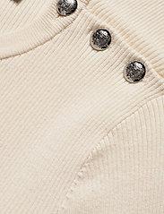 Lauren Ralph Lauren - Ribbed Cotton-Blend Sweater - gensere - mascarpone cream - 3